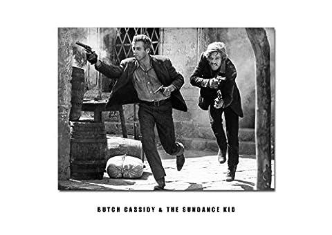 Butch Casidy und The Sundance Kid–2–Robert Redford–Paul Newman Actors–Film Sterne–Druck–Poster (Bb Satin-stern)