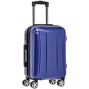 AmazonBasics – Maleta rígida «hardside» Oxford, con ruedas – 55 cm, Azul