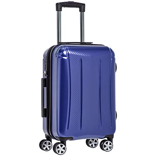 AmazonBasics - Trolley rigido Oxford, 55 cm, Blu