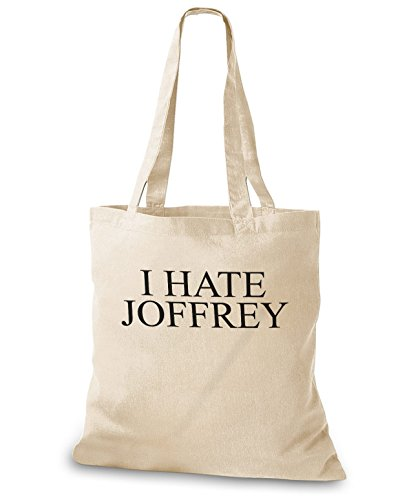 StyloBags Jutebeutel / Tasche I hate Joffrey Natur