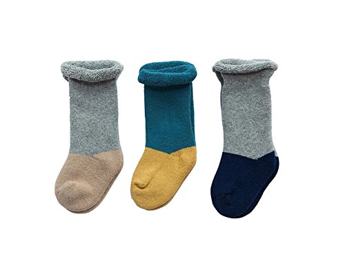 be verdicken weiche Baumwolle Crew Baby Kleinkind Kind rutschfeste Socken Medium Tube Winter warme Socken (0-1 Jahre alt Baby) für Weihnachten Halloween Geschenk (Boy) (Halloween Stock 1)