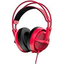 SteelSeries Siberia 200 - Auriculares para juego, micrófono retráctil, gestión de software, (PC / Mac / Playstation / Móvil), color rojo forjado