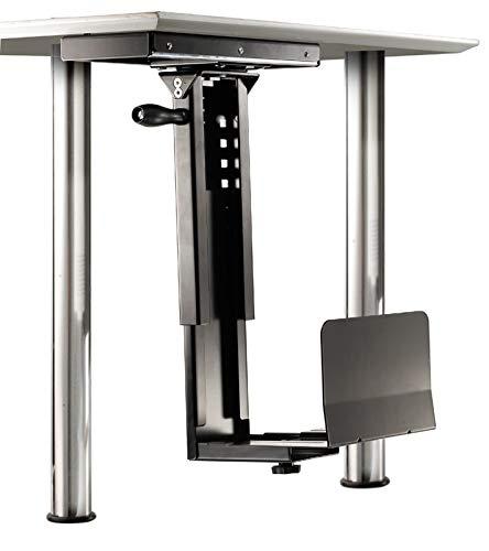 ROLINE PC Halterung | Untertisch Befestigung | Computer Halter | Tischhalterung drehbar | Schwarz - Halter Rechner Mit