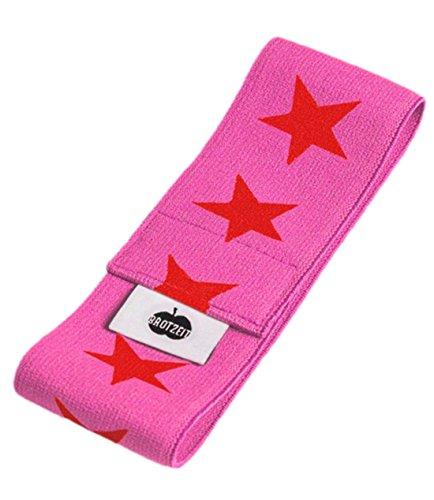 Brotzeit- Band Stretchband Lunchbox Brotdose mit Sternen, Rot