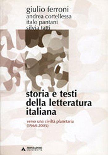 Storia e testi della letteratura italiana: 11