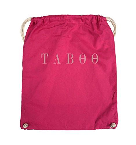 Comedy Bags - TABOO - LOGO - Turnbeutel - 37x46cm - Farbe: Schwarz / Pink Pink / Rosa