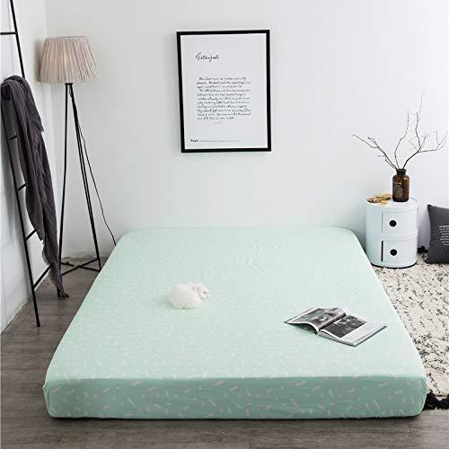 Homclo matratzenbezug ausBaumwolle matratzenschoner rutschfest Spannbetttuch atmungsaktiv Candy Farbeeinfache Spannbettlacken matratzen-schutz-bezug 180cm x 200cm