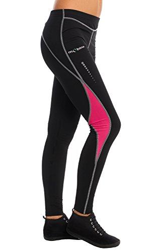Mobina Pantalones de Compresión Térmicos de Correr Deporte Jogging Fitness Yoga Para Mujer Cortavientos y Función de Secado Rápido - Rosa M