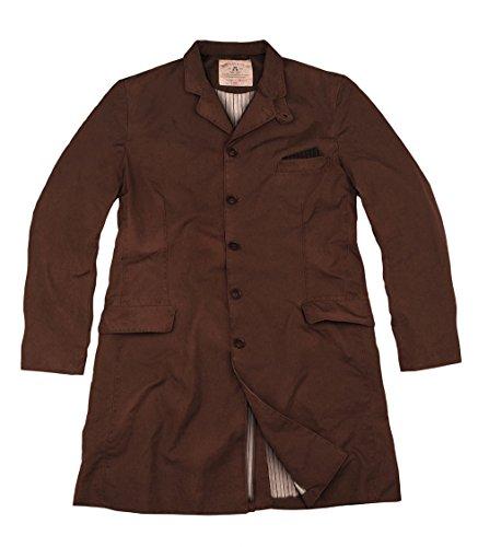Canvas-baumwoll-shorts (Klassischer Herren Gehrock, Mantel in braun aus Canvas Baumwolle, schmal geschnitten)