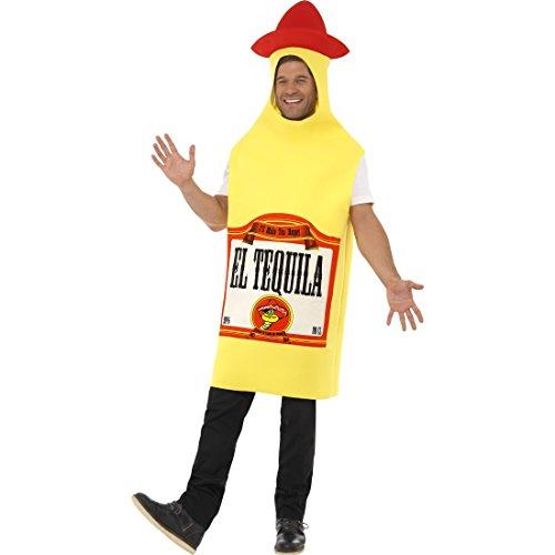 NET TOYS Mexiko Flaschenkostüm Tequila Kostüm Schnaps Flasche Jumpsuit Mexico Party Ganzkörperkostüm Junggesellenabschied Herrenkostüm Flaschen Faschingskostüm Karnevalskostüme Herren - Tequila Kostüm