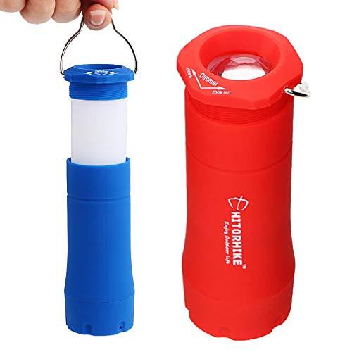 Onsinic 1Pcs Red Bewegliche Laternen Outdoor-Camping-Licht-Zelt-Lampe 3W