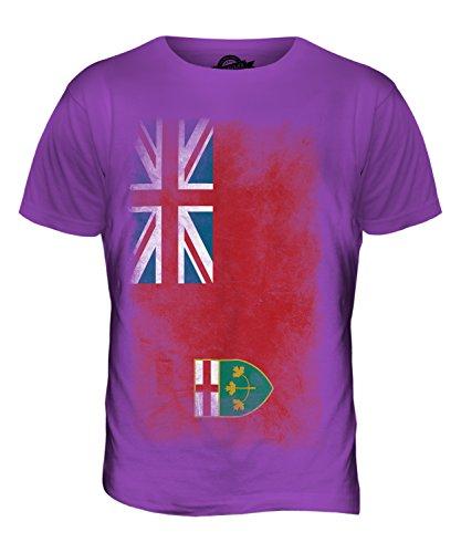 CandyMix Ontario Verblichen Flagge Herren T Shirt Violett