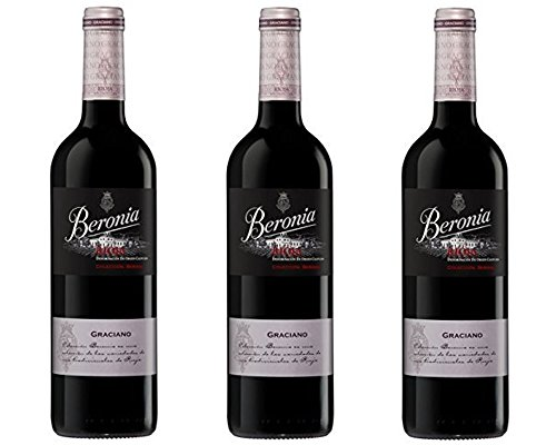 Beronia Graciano - Vino D.O.Ca. Rioja - 3 Botellas de 750 ml - Total : 2250  ml