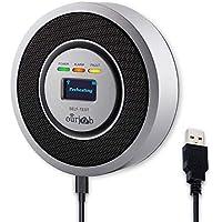 Alarma de Gas, Detector de Gas LPG/Natural/Ciudad, Alimentado por USB Sensor De Fugas De Gas Combustible Butano/Propano/Metano, con Advertencia de Sonido y Pantalla Digital (Gris, Batería Incluida)