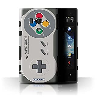 Stuff4® Hülle/Hülle für Sony Xperia Acro S/LT26w / Super Nintendo Muster/Spielkonsolen Kollektion