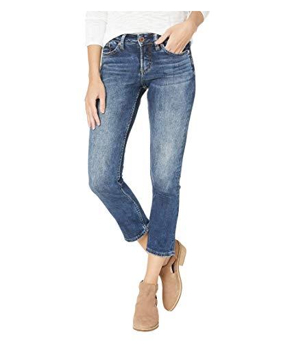 Silver Jeans Co. Damen Suki Curvy Fit Mid Rise Capri Jeans, Power Stretch Dark, 30W x 22L 6 X Capri