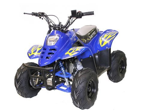 125cc-Kinderquad-Bigfoot-6-light-Automatik-Quad-Atv-Miniquad-Schwarz