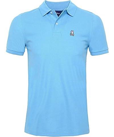 Psycho Bunny Men's Pima Cotton Classic Polo Shirt Bluebell XL