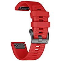 ANCOOL Strap for Garmin Fenix 5 22mm Bracelet Band Easy Fit Quick Release Soft Silicone Watch Strap Replacement Wristband for Garmin Fenix 5