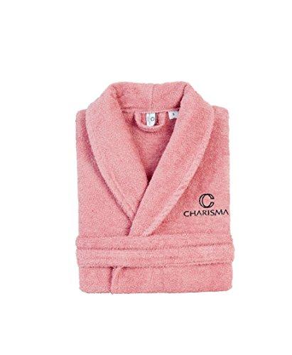 """CHARISMA HOME – """"ELEGANCY""""- BADEMANTEL – Unisex - 100% Baumwolle - Premiumqualität - 380 g/m² - Frottee - Damen & Herren -OEKO-TEX® 100 Zertifikat Rosé"""