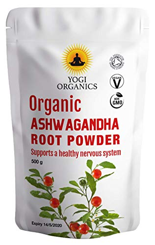 Polvo Orgánico de Ashwagandha 1kg (2 x 500g)
