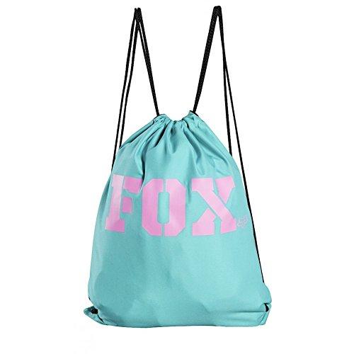Fox Racing Vapors Cinch Sack Womens Gym Bag Teal Womens Cinch
