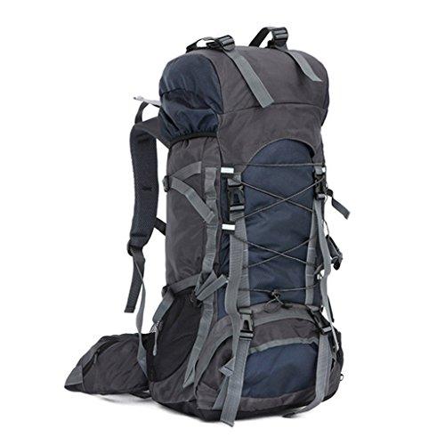iMusi Trekkingrucksäcke Wandern Ausflug Rucksack 80L mit Hüfttasche Design - DunkelBlau