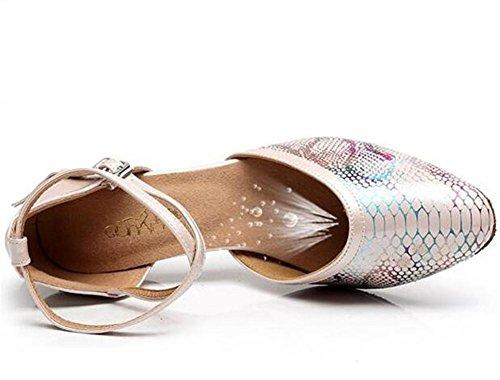 Stampa PU da Danza 35To42 Heel Sala Formato ballo latino donna serpente Scarpe pompe 5cm da Taogo sandali 4qHtXwH