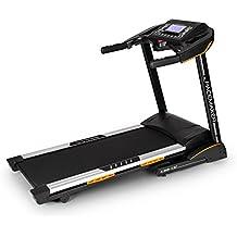 Klarfit Pacemaker X30 cinta de correr profesional (incluye cinturón pectoral, 6 PS potencia, 22km/h, AUX, pulsómetro, inclinación ajustable, plegable, contador calorías, distancia, velocidad) - negro