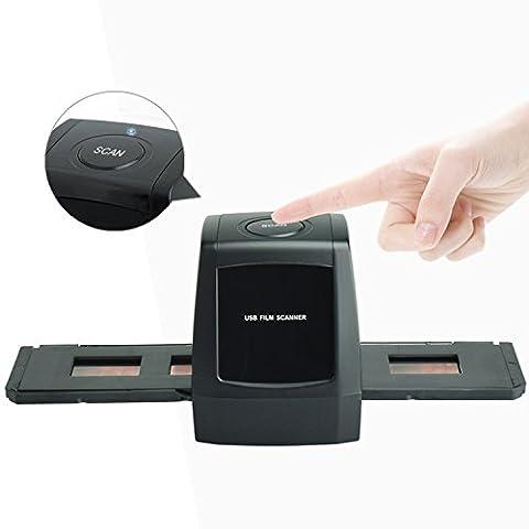 DigitNow! Digital-Negativ / Post-Film-Scanner mit 1800 / 3600DPI hochauflösenden USB 35mm 135 Slide und Foto Film Scanner für Converter Classic Dark Slide & Negative zu Digital Image, benötigen Computer und müssen die CD-Datei installieren.