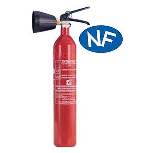 Extincteur CO2 capacité 2 Kg NF avec support de fixation