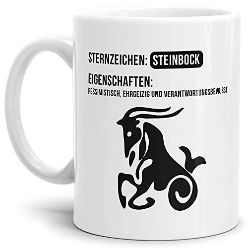 Tasse mit Design ?Sternzeichen Steinbock - Kaffeetasse/Mug/Cup - Qualität Made in Germany