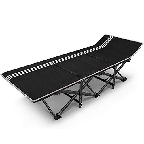 Camping Stühle Für Schwere Menschen Klappgarten Terrasse Gartenstühle Metall Chaise Lounge Chair, 200 kg (Größe: Mit matratze)