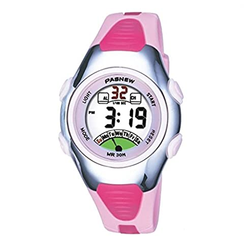 FOME Pasnew Fashion Waterproof Children Boys Girls Digital Sport Watch with Alarm, Chronograph, Date (Pink) +FOME GIFT