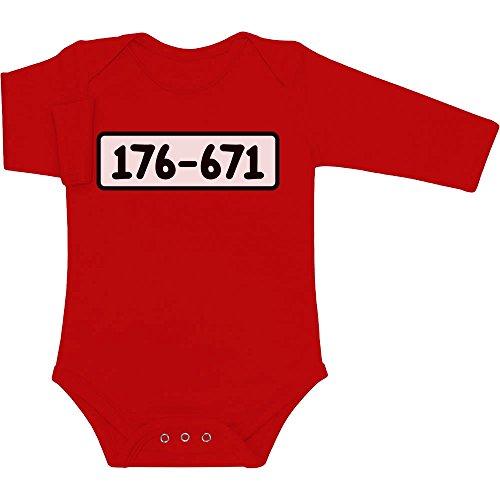 Panzerknacker Banditen Bande Kostüm Baby Langarm Body 74/80 (6-12M) (Kostüm Dagobert Kind)