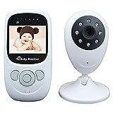 MRDEER Babyphone mit Kamera Delay-Free Technology Wireless Video Babyfon Babymonitor 2.4 Zoll 2.4GHz (Nachtsicht, Gegensprechfunktion,Temperatursensor,Schlaflieder) weiß