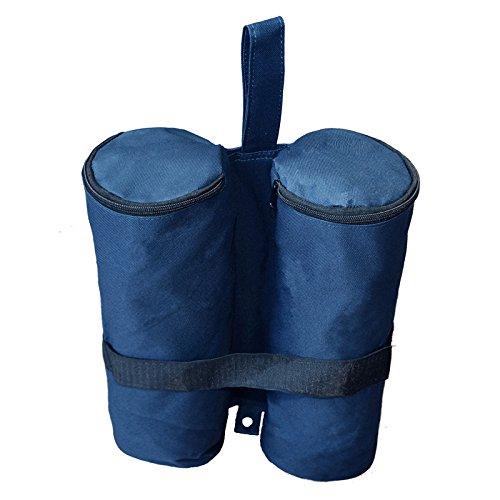 Toyfun Canopy Poids Sacs Sable Tente jambe Poids Sac pour jardin d'ancrage tentes Pare-soleil trampoline, Lot de 4, bleu foncé