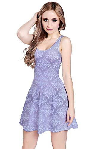 CowCow - Robe - Femme coloré Purple Damask