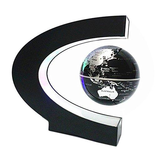 BEETEST Levitación Magnética Flotante Mapa del Mundo Globo Flotante Luz LED C...