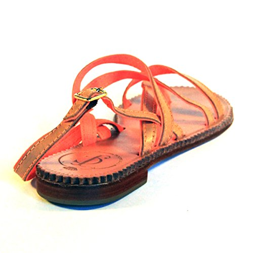 Juicy Couture plate, orteils, post sandals. RRP £ 110 Argent - Orange-white