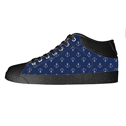 Dalliy Blue ocean Anchor Women's Canvas Shoes Lace-up High-top Footwear Sneakers Chaussures de toile Baskets C