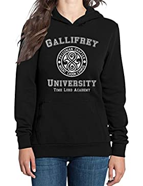 Gallifrey University Damen Kapuzenpullover Hoodie - Doctor Time Academy Who