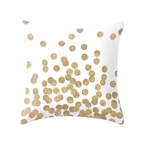 Kissenbezüge für 45x45CM Kopfkissen Transer® Gemütlich Weiches Gewebe Kissenbezug Pflegeleicht Schnell Trocknend Modische Sofa mit Reißverschluss (17) (Rosa Und Marine Baby-bettwaren)