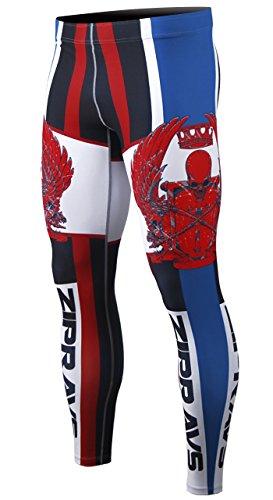 Cold Base Layer Legging (Zipravs Herren KompressionsHose Funktionswäsche Base Layer Sportanzüge Lang Hosen)