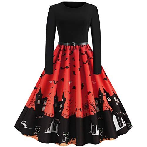 Coole Kostüm Selbstgemacht - Damen Abendkleid Halloween Kleider Freizeit Kürbis