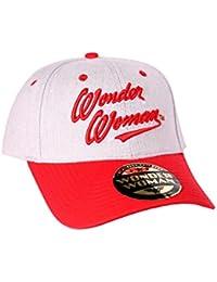 Wonder Woman Casquette de baseball DC Comics Script Text Logo officiel Blanc