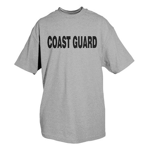 Fox Outdoor Produkte Coast Guard Physical Training bedruckt T-Shirt Größe L grau meliert