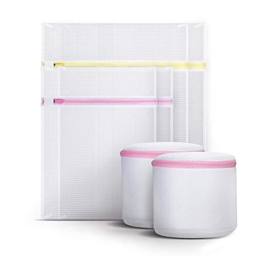 ür Waschmaschine 6er-Set(2L & 2M & 2 BH) Dessous und Feinwäsche Wäschesack, Wäschebeutel aus Netzstoff Wiederverwendbarer strapazierfähiger Wäschesack für Alle Arten von Kleidung ()