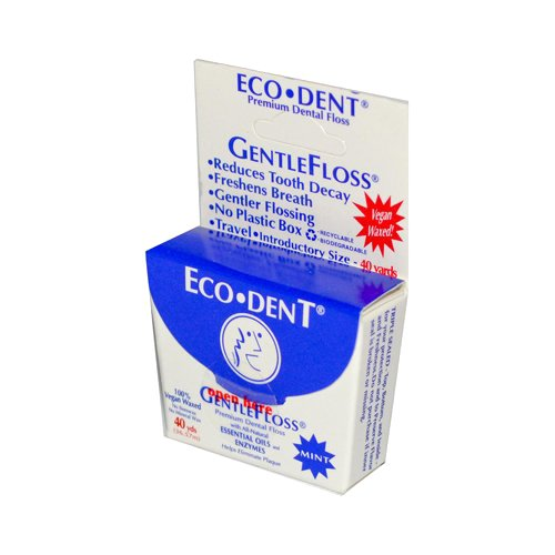 Eco-dent Gentle Floss Mint 40 (6 Pack) 40 Yds