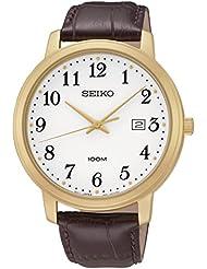 Seiko Herren-Armbanduhr Analog Quarz Leder SUR114P1
